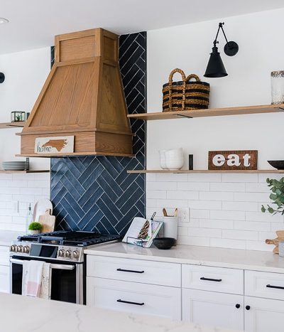 floating shelves and other tips for budget kitchen remodeling