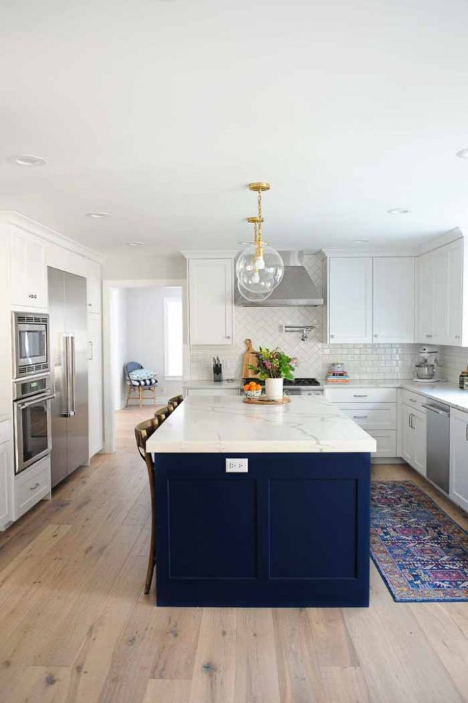 kitchen island after by pink peppermint design
