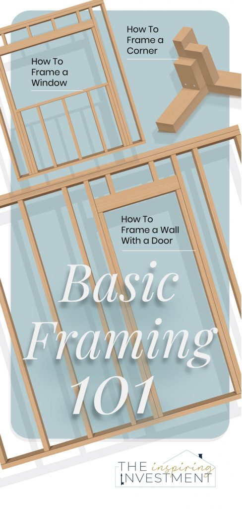 Framing Basics 101: How to Frame Windows, Walls, Corners & Doors featured by top home investment blog, The Inspiring Investment - basic framing essentials