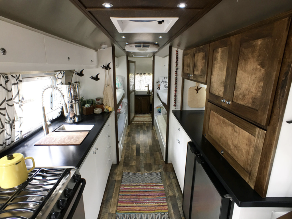 large family airstream vintage renovation inspiration raleigh