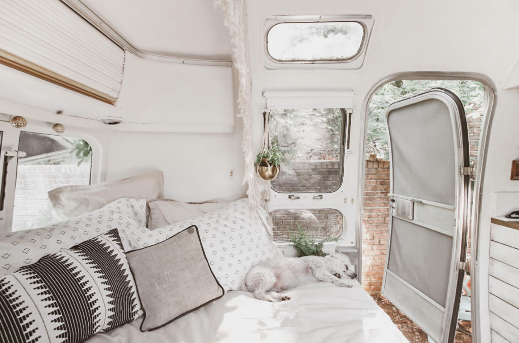 vintage airstream full time living design inspiration
