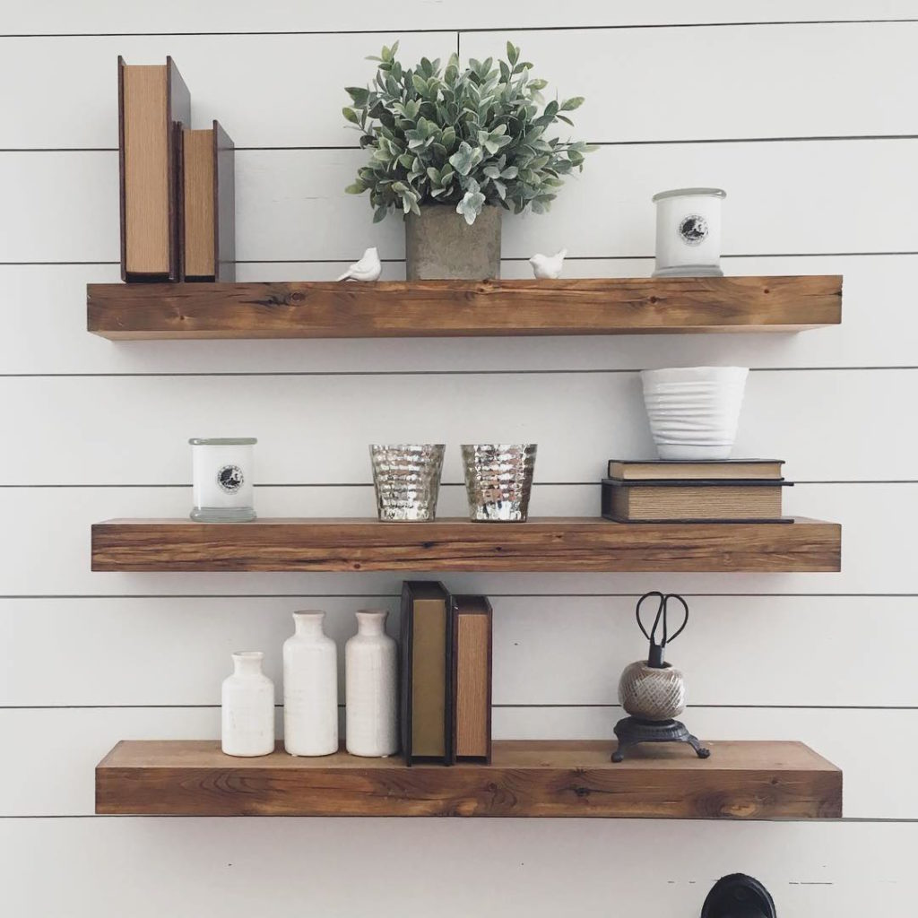 floating styled style shelves shiplap how to barnwood