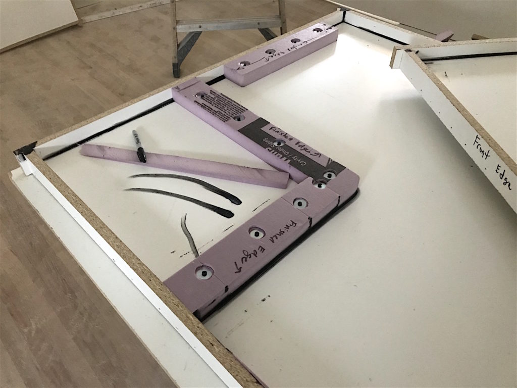 DIY concrete countertops tutorial featured by top house flipping blog, The Inspiring Investment