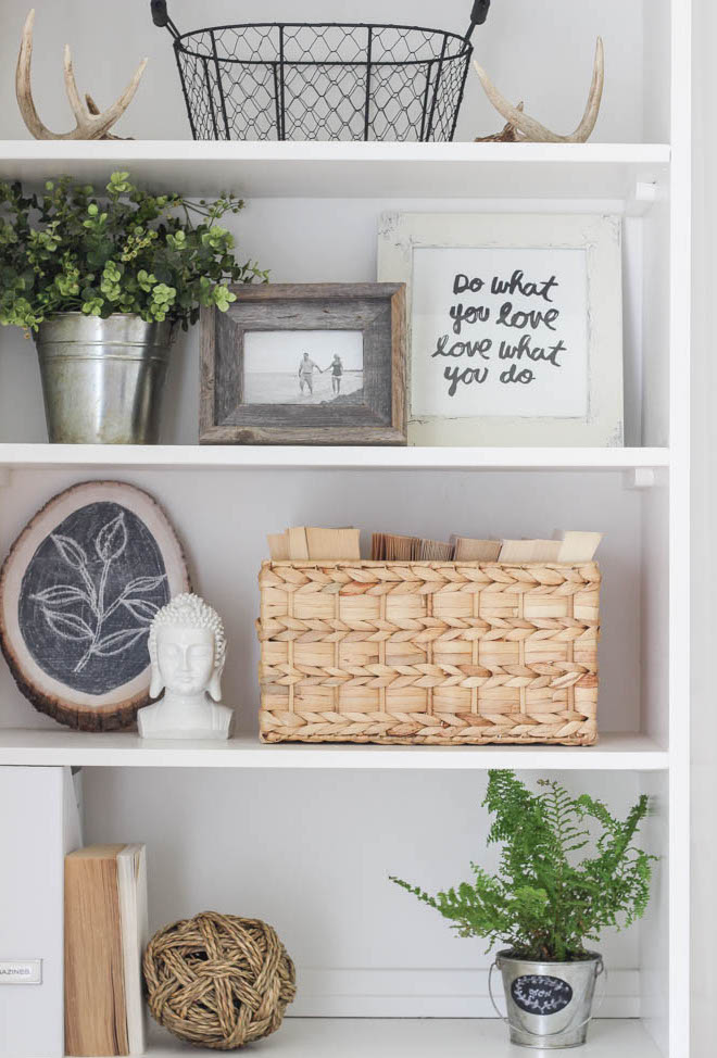 styled styling shelves