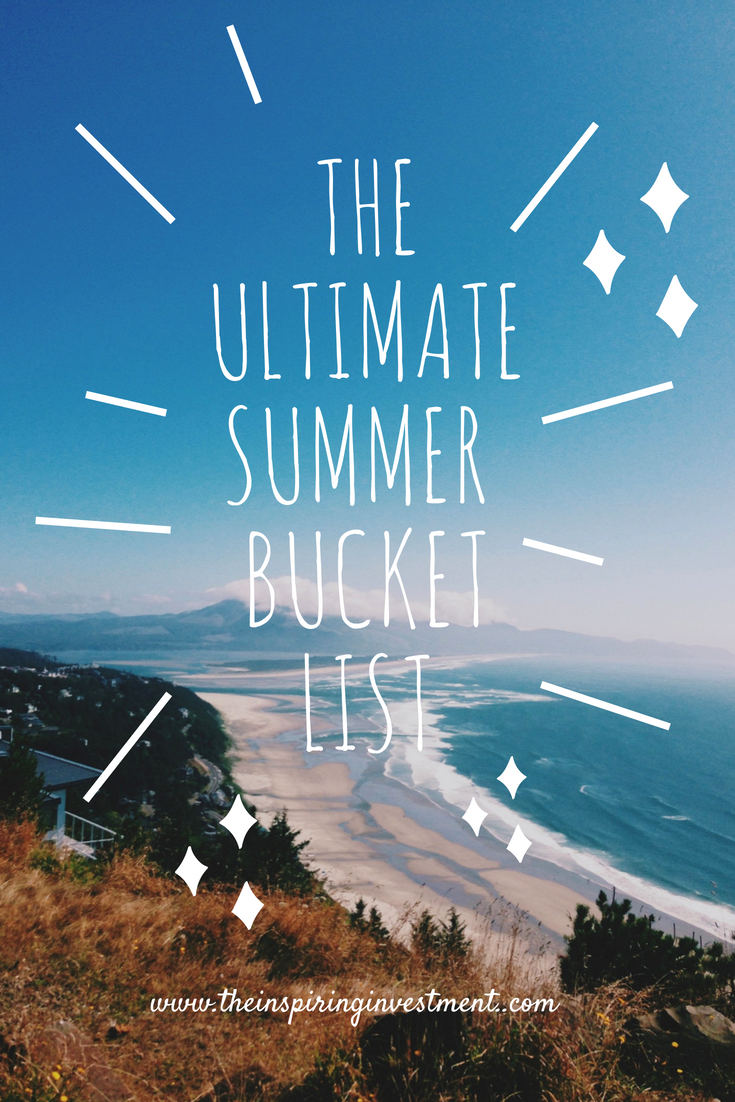 summer Bucket List pinterest graphic