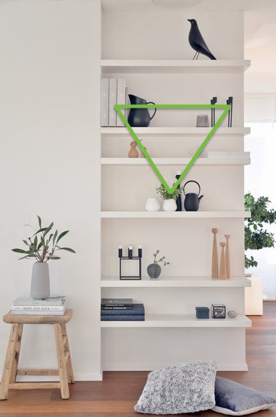 triangle pattern styling shelves how to shelfie