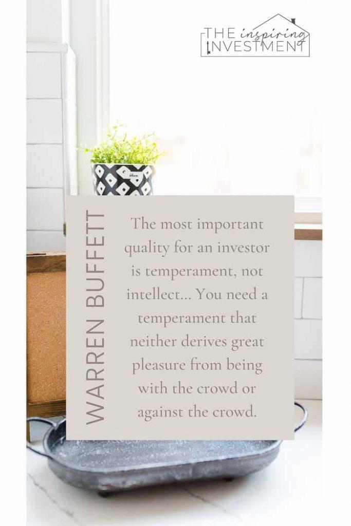 Warren Buffett inspiring quote