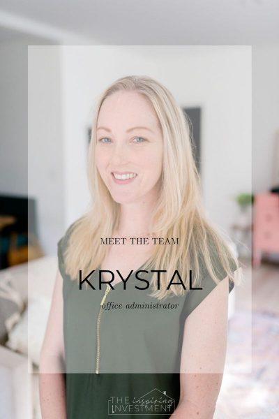 meet our office administrator krystal