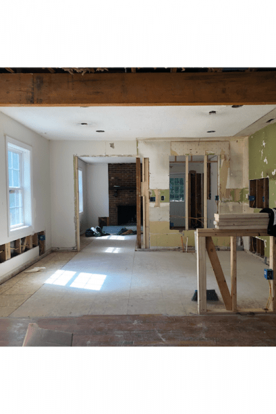 flip house project during renovation