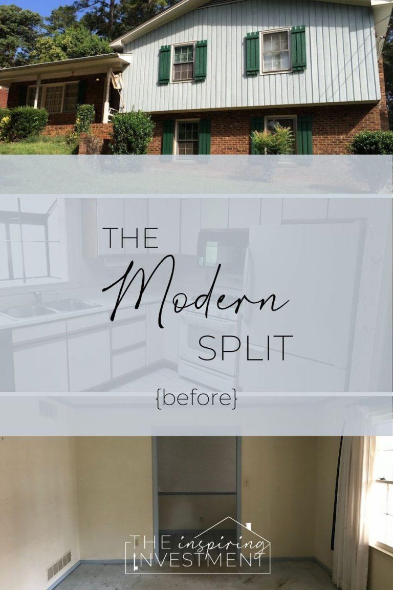 The Modern Split Renovation: Before