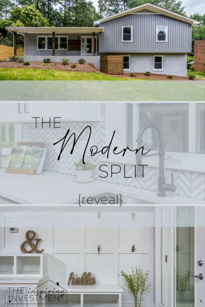 The final reveal of a split level renovation