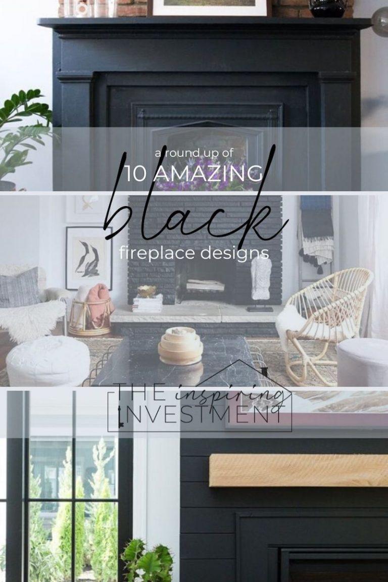 Black Fireplace Ideas