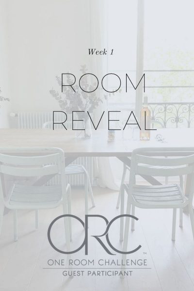 were participating in the one room challenge this year week one we reveal the room. its our master bedroom