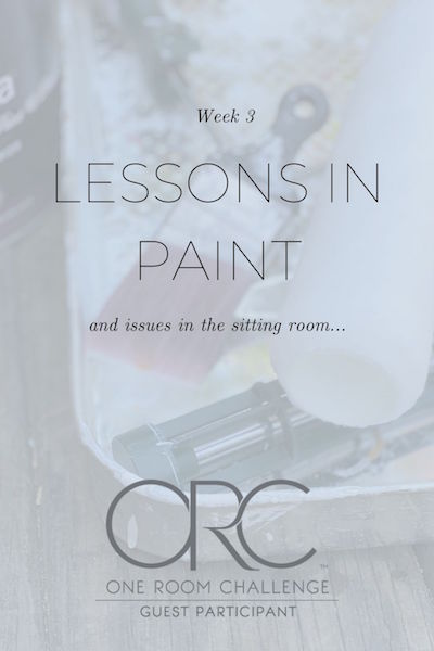 ORC Week 3 Master Bedroom: Lessons Learned in Paint (and Issues in the Sitting Room)