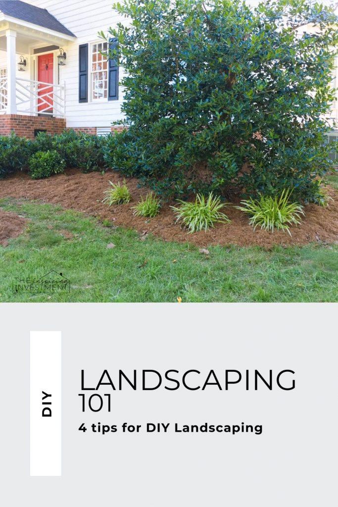 DIY Landscaping at a flip house 4 tips