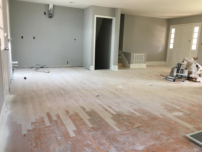 flooring costs when removing wall