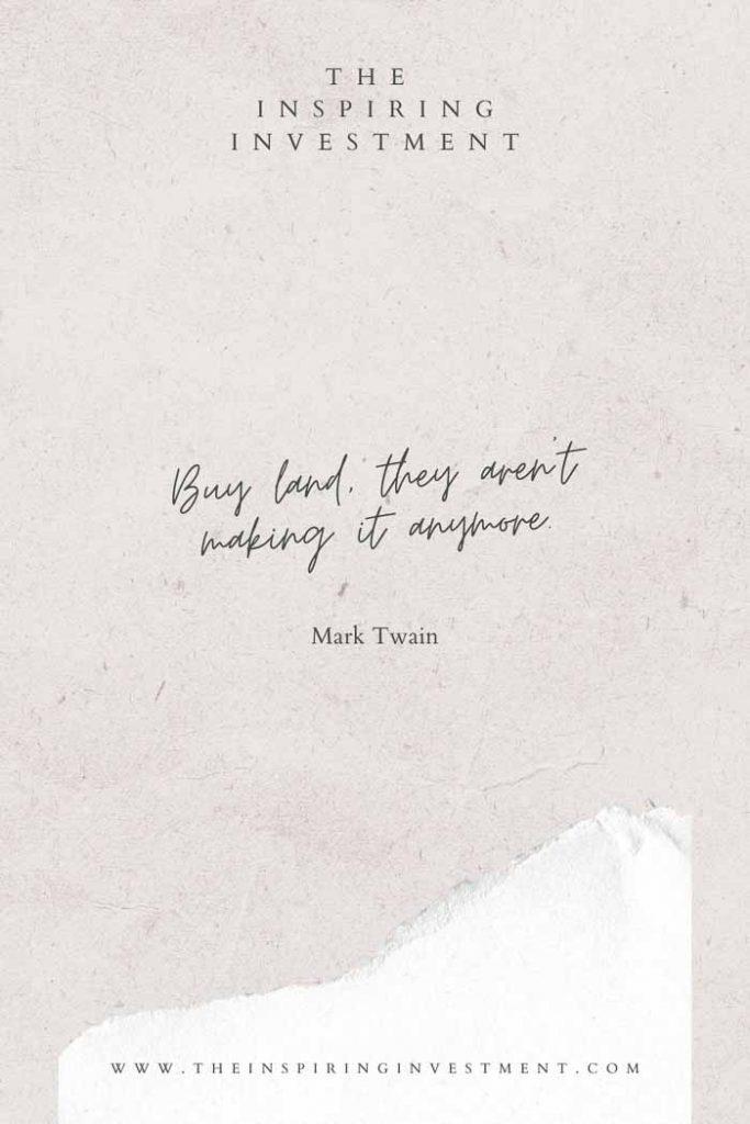mark twain real estate quote