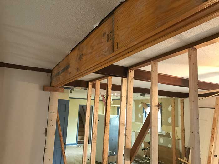 wall supports for interior wall removal