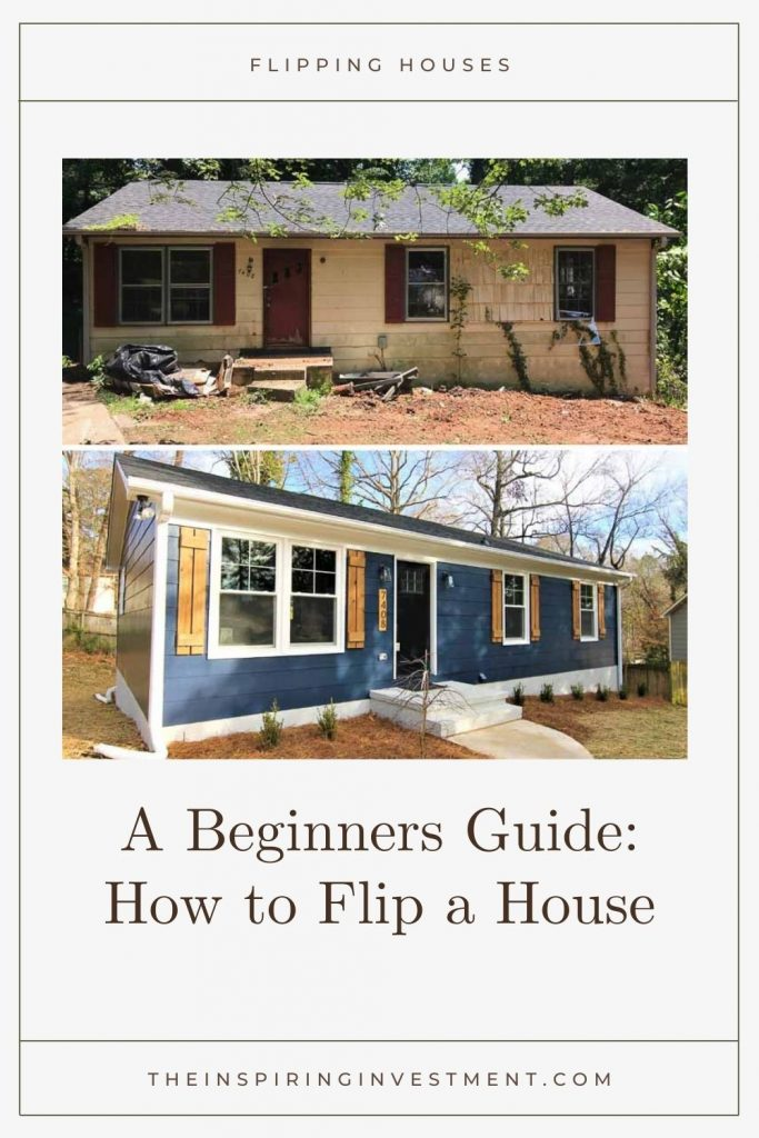 How to Flip a House by popular US house flipping blog, The Inspiring Investment: before and after image of a flipped house.