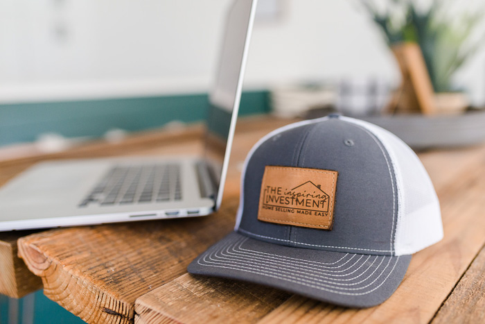 the inspiring investment branded hat