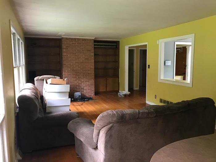 living room before house flip
