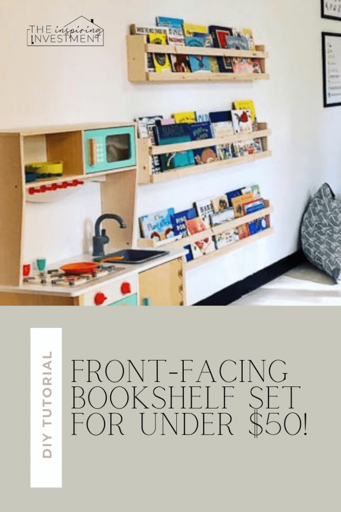 diy front facing bookshelf tutorial featured by top home blogger, The Inspiring Investment