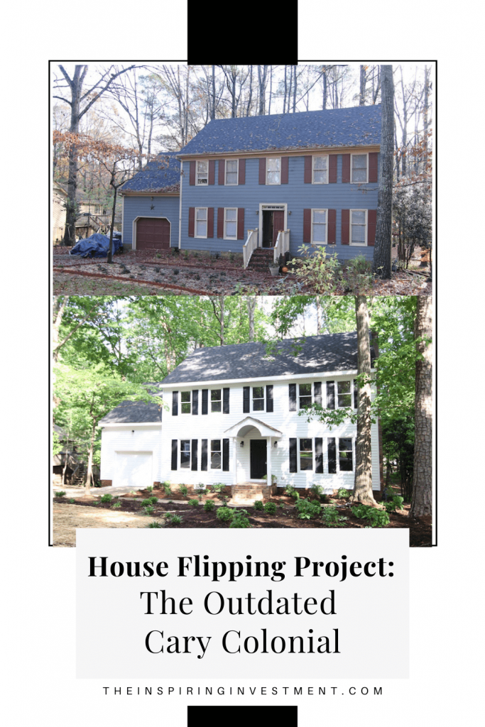 house flipping project: outdated cary colonial by house flipping experts, the inspiring investment