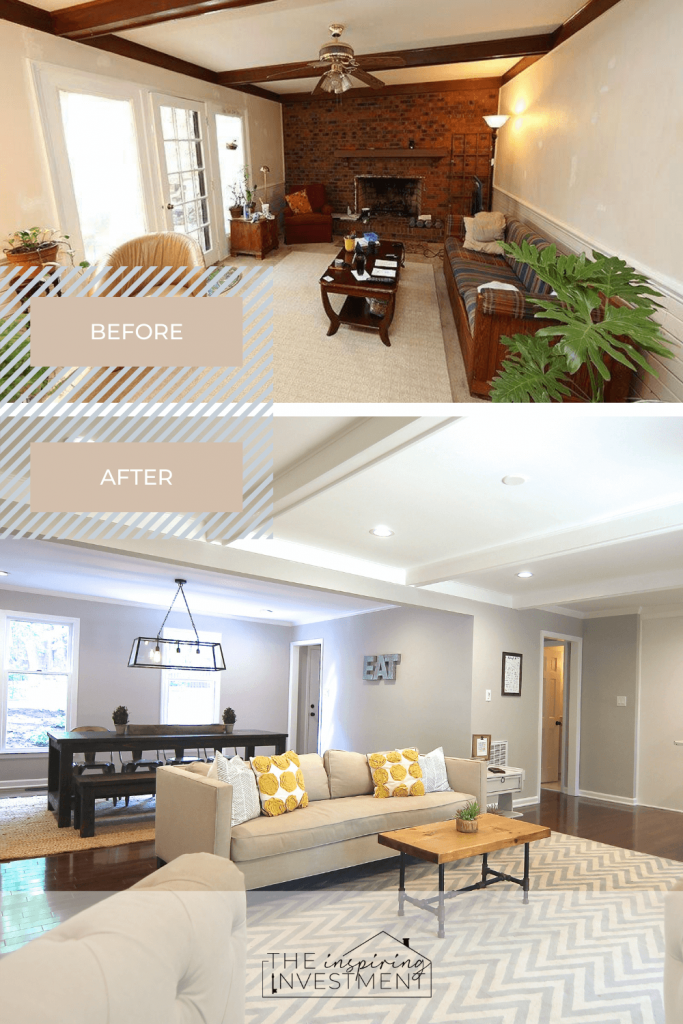 before and after formal living | the inspiring investment