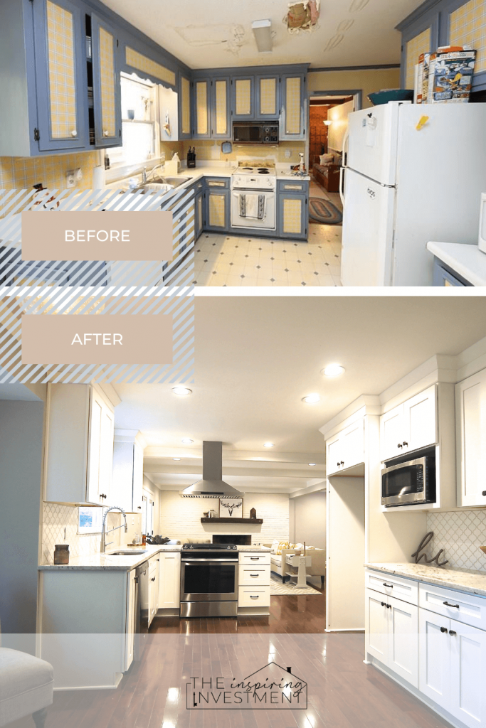 before and after kitchen | the inspiring investment